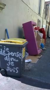 poubelle à Montpellier 2